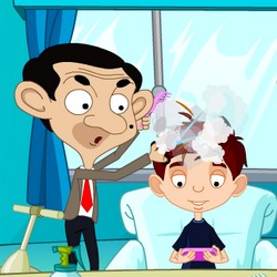 Mr. Bean fun hair salon game